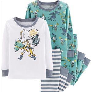 Carter's 4 Piece Good Knight Snug Fit Pajamas